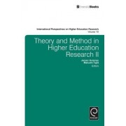Theory and Method in Higher Education Research II by Jeroen Huisman
