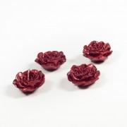 Set Patru Lumanari Trandafiri Sclipici Rosu