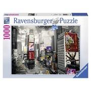 Ravensburger 19470 - Puzzle 1000 Pezzi, New York Times Square, Cartone