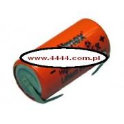 Bateria ER17335M-FT 3.6V 2/3A wysokoprądowa blaszki do lutowania