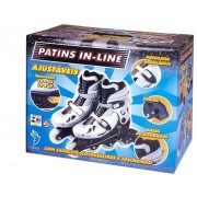 Patins In Line Prata nº 34 ao 37 - Fênix