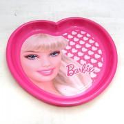 Szív alakú Barbie lapostányér
