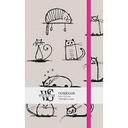 Edizioni White Star 5402843.0 Notebook, Cat Sketch