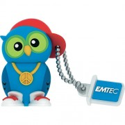 Stick USB 8GB Dj Owl USB 2.0 M341 Albastru EMTEC
