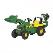 Rolly Junior John Deere pedálos markolós traktor exkavátorral