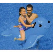 Intex Inflatable Smiling Seal - Pool Float with Safety Grab Handles