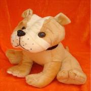 Cute Stuffed Brown Tyson Bull Dog Plush Animal Soft Toy