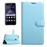 Huawei P8 Lite (2017) & P9 Lite (2017) & Honor 8 Lite Litchi Texture Horizontal Flip Leather Case with Magnetic Buckle & Holder & Card Slots & Wallet (Blue)