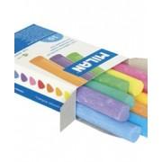 Тебешир цветен, триъгълен, 10 бр. в кутия