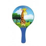 Solmar - Set de palas de playa con pelota mod. Girafa