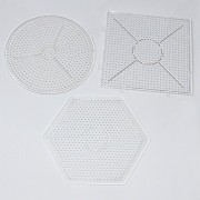 Fun Shaped Pegboards for Beading Making 3-shapes Hexagon/square/circle