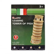 AsianHobbyCrafts Mini 3D Puzzle World's Greatest Architecture Series : Leaning Tower of Pisa : Model Size – 9cm x 9cm x 23cm