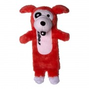 Rogz Thinz Plush Small 200mm Dog Toy - Red