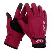 Wind Tour WT073004 Outdoor Cycling Anti-Slip Warm Touch Screen Full Finger Gloves - Red (XL / Pair)
