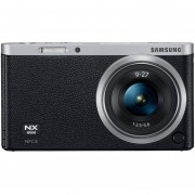 Samsung SMART Camera NX Mini Point & Shoot Camera - 20.5 Megapixels, 3x Optical Zoom, WiFi, Black - EV-NXF1ZZB2IUS