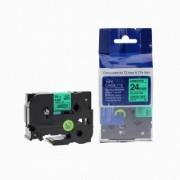 Brother TZ-751 / TZe-751, 24mm x 8m, černý tisk / zelený podklad kompatibilní
