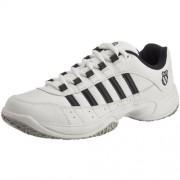 K-Swiss Outshine Omni Eu Zapatillas de tenis de cuero para hombre, Blanco (White/Navy/Light Grey)