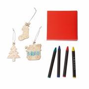 Colgantes de Navidad para pintar