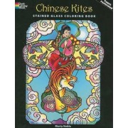 Chinese Kites Stained Glass Coloring Book by Marty Noble