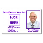 Staff Photo ID Card (Ideal for Schools or Businesses) - Basic Purple