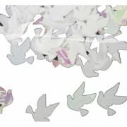 Bruiloft confetti wit / parelmoer