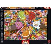 Educa - 16271 - Puzzle Classique - Bonbons - 500 Pièces