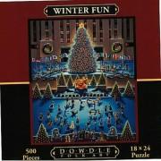 Dowdle Folk Art Winter Fun 500pc 18x24 Puzzles