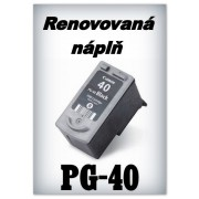 SuperNakup - Náplň do tiskárny Canon PG-40 XL - black - renovovaná