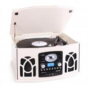 Auna NR-620 Ретро мултифункционална система със CD плейър, FM / AM радио, USB и SD входове, грамофон и касетофон (MG-NR-620-CR)
