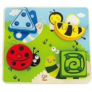 Hape - Early Explorer - Build-A-Bug Wooden Sorter Puzzle