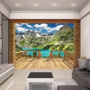 Alpesi kilátó- 3D hatású tapéta - Walltastic