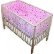 Lenjerie patut bebe pisicuta roz