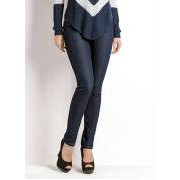 Calca Skinny Cintura Alta Jeans Escuro