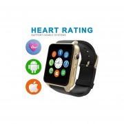 Luxsure Uwatch Smart Watch With Heart Rate Monitor Android Smart Watch Phone Sports Bluetooth Wristwatch With 3G Magsensor Gravity Sensor Compatible With IOS & Android (Gold)