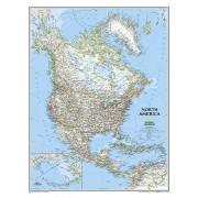 Wandkaart Noord Amerika, politiek, 60 x 77 cm | National Geographic