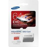 Card de memorie Samsung Evo+ microSDXC 64GB Class10 UHS1 + Adaptor