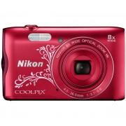 Nikon Coolpix A300 (czerwony z ornamentem)- szybka wysyłka! - Raty 10 x 62,90 zł - szybka wysyłka!