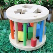 GoodPlay Educational Sorting Toys Bricks Haped Matching Intelligence Shape Sorter Wheel Wooden Children's Educational Toys