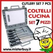COLTELLI CUCINA SET 7 PZ con valigetta