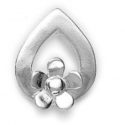 Sterling Silver Floral Pendant By Taraash