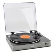 Auna TT-10 gramofon cu BT Bluetooth argintiu (TTS10-TT-10 BT)