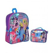 My Little Pony Large Backpack Bag and Insulated Lunchbox Lunch Bag