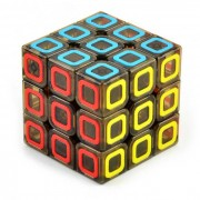 3 * 3 * 3 de patron de timbre colorido Brain Challenge Cubo Magico - multicolor