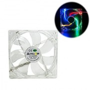 Autolizer Sleeve Bearing 120mm RGB Multi-Color LEDs Silent Cooling Fan for Computer PC Cases CPU Coolers and Radiators High Airflow Quiet and Transparent - 2 Years Warranty
