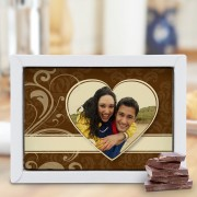 Chocoladekaart - Groot - Geheel wit