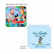 Magnet Plastifiat Cu Minnie Si Mickey