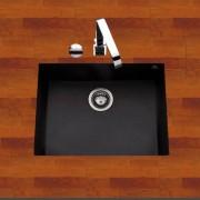 Ewi Évier sous plan granit noir moucheté URBIA 1 bac 540x440