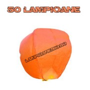 50 Lampioane Zburatoare Portocalii
