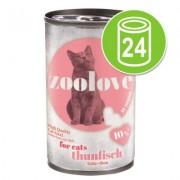 zoolove Voordeelpakket Kattenvoer 24 x 140 g - Kipfilet