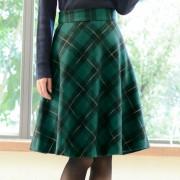 チェック柄フレアースカート スカート【リュリュ】 ベルーナ